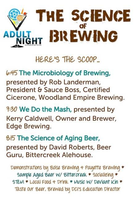 DCI Science of Brewing Adult Night September 2014