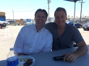 "After a long day of shooting ""Con Man"", I got to have lunch with Alan Tudyk himself."